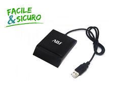 LETTORE SIM SMART CARD ADJ CR231 CARD READER USB 2.0 FIRMA DIGITALE