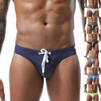 Bikini Men Drawstring Briefs Swimwear Swimming Printed G-string Swimsuits Trunks