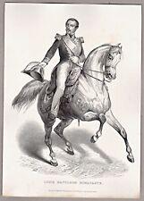Louis Napoleon Bonaparte zu Pferde - Stich, Stahlstich A.H. Payne um 1850