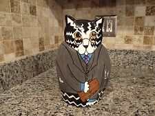 LAWYER CAT VASE SIGNED BY NINA LYMAN...NEVER USED... NEW CONDITION