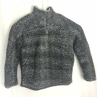 Women's Medium Thread and Supply Sherpa 1/4 Zip Pullover Sweater Jacket Gray