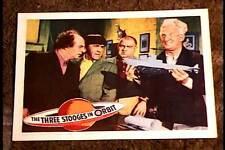 THREE STOOGES IN ORBIT 1962 LOBBY CARD #2 MOE LARRY CURLY JOE