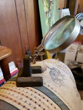 Vintage Antique Adjustable Jewelers Magnifying Glass Cast Iron