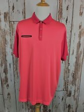 Nike Golf Dri Fit New Lightweight Innovation Polo Shirt Size 2XL Geranium Red