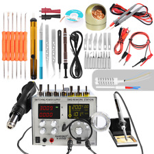 4 in1 9305D Hot Air Rework Station Soldering Iron Station Switching Power Supply