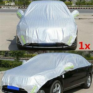 Semi-body Car Cover Waterproof Sun Shade Heat Protection Reflective Universal 1x