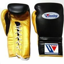 Winning Boxing gloves Lace up 12oz Black x Gold from JAPAN FedEx tracking NEW -J