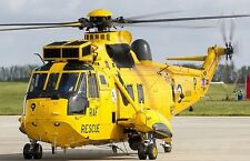 Westland WS-61 Sea King HAR3 Helicopter Wood Model Replica Small Free Shipping