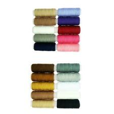 20 Spools Colorful Polyester Sewing Thread Quilting Stitching Supplies