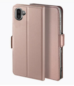 YATWIN Sharp Aquos R3 case Leather with Wallet Card Magnetic Flip - Rose Gold