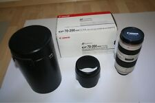 Canon Zoom Lens EF 70-200mm f/2.8 L USM Telephoto Zoom Lens w Case and lens hood