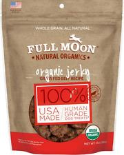 New listing Full Moon Organic Dog Treats Human Grade Beef Jerky 14 Ounce