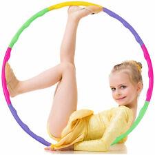 Adjustable Detachable Kids Hula Hoola Colorful Exercise Fitness  Workout Hoop