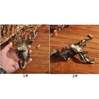 1x Deer Hook Key Coat Wall Hanger Stag Head Decoration Iron Hooks Garden