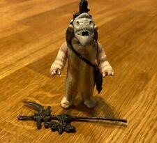 Vintage Star Wars Logray Ewok Figure ROJ 1983 Original Staff/Hood/Pouch - Superb