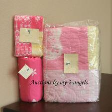 Pottery Barn Kids 6-pc Summer TIE DYE Butterfly Twin Quilt+Shams+Sheet Set PINK