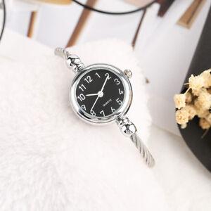 Fashion Casual Silver Stainless Steel Strap Bracelet Women Quartz Wrist Watches