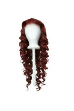 26'' Spiral Curly Lace Front Wig with 1'' lace no Bangs Rustic Red Wig NEW