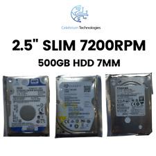 """2.5"""" Laptop Hard drive 500GB SATA III 6Gb/s 7200rpm HDD Slim 7mm PS3 PS4 Mac PC"""