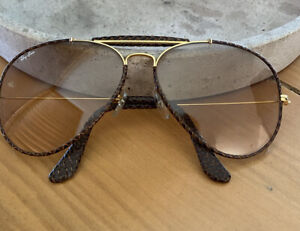 VINTAGE RAY BAN Leather SUNGLASSES - Excellent Condition