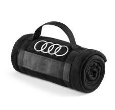 Original Audi Fleecedecke schwarz 180x130cm Decke Audi Fleece schwarz