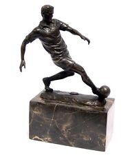 Bronzefigur Fußballer Fussball Sport Fußballspieler Bronze Skulptur