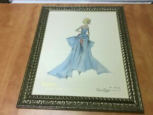 """Robert Best BARBIE Collection Framed Signed Print 1756 of 5000 overall 19"""" x 23"""""""