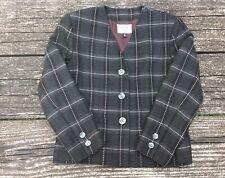 Kasper Women's Suit Jacket Gray Black Pink Size 10