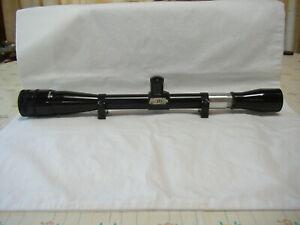Vintage Lyman All American 10X Perma Center Rifle Scope W/Rings W/Tall Turrets