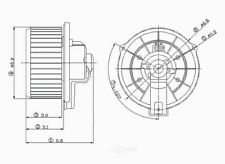 Global Parts Distributors 2311557 New Blower Motor With Wheel