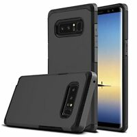 Hybrid Case For Samsung Galaxy S10 / Plus /E Armor Rugged Shockproof Cover BLACK