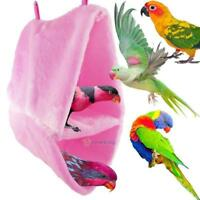 Dual Layer Fleece Birds Hammock Parrot Hamster Nest Cage Winter Warm Bed House