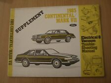 Lincoln Continental / Mark VII 1985 Electrical manual Werkstatthandbuch