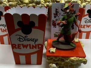 Robin Hood Disney Store Rewind Mystery Figure Popcorn Box & Stand and Art Card