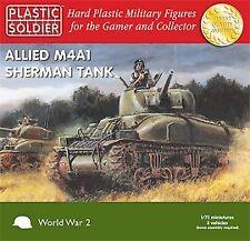 Plastic Soldier 1/72 Allied M4A1 Sherman Tank * 3 tanks # WW2V20004