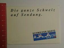 Aufkleber/Sticker: Schweizer Radio Drs 1 die ganze Schweiz auf (230816137)