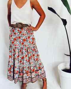 Gorgeous BOHO Style Spring Outfit, Skirt Top & Belt Size 10 & Med NWT