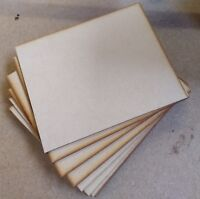 quality mdf craft boards sheets pieces offcuts 220mm x 180mm 3mm thick laser cut