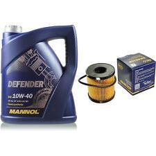 Vidange Kit 5 Litre mannol Defender 10W-40 + Sct Filtre à Huile Service 10164128
