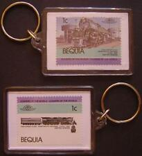 1942 Union Pacific (UP) CHALLENGER Class 4-6-6-4 Train Stamp Keyring (Loco 100)