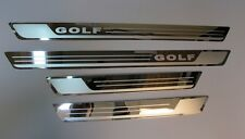 Stainless Steel Chrome 4 Door Sill Trim Embelm for VW Golf MK7 TDI TSI MK VII