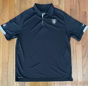 NIKE Las Vegas Raiders Black Short Sleeve Polo Shirt - Adult Large- NEW!