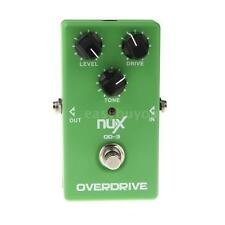 NUX OD-3 Overdrive Guitar Electric Effect Pedal Ture Bypass Green EB Q9R5