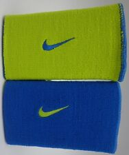 Nike Dri-Fit Home & Away Doublewide Wristbands Military Blue/Volt