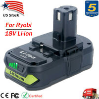 Upgraded For Ryobi P108 P104 18V One Plus Max Lithium-Ion Battery P102 P105 P107