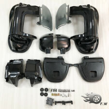 Lower Vented Leg Fairing Glove Boxes Kit Fit For Harley 83-2013 Unpainted Black