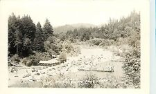 c1940 RPPC Postcard Crowded Beach, Guernewood Park CA Russian River Hasek Photo