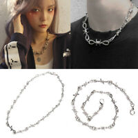 Women Choker Hip Necklace Thorns Punk Men Jewelry Hop AR Chain Gift Pendant