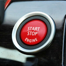 Perilla de botón de parada de comienzo del motor Interruptor de Llave Decoración Anillo de ajuste-Rojo Negro para BMW