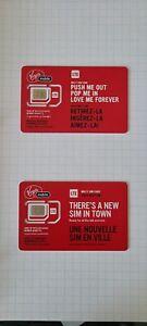 Virgin Mobile Multi SIM Card LTE Nano Micro Regular Pre Post Paid 4G Unactivated